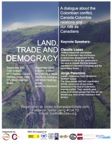 Conference: Land, Trade, and Democracy