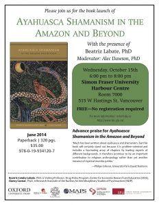 Book Launch: Ayahuasca Shamanism: Cancelled
