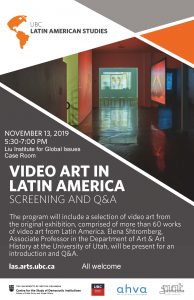 Video Art in Latin America Screening