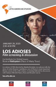 Los adioses – Film Screening & Discussion
